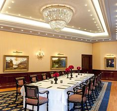 Antique paintings in the conference rooms at The Ritz-Carlton, Berlin gives your meeting a classic touch.