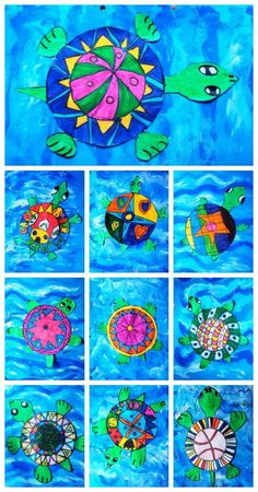 Sea turtles art projects