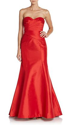 Monique Lhuillier | Sweetheart Trumpet Gown | SAKS OFF 5TH