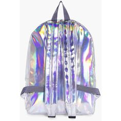 Boohoo Libby Holographic Rucksack | Boohoo ($21) ❤ liked on Polyvore featuring bags, backpacks, hologram bags, hologram backpack, day pack backpack, daypack bag and rucksack bags