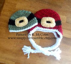 Santa Earflap Hat (Crochet Pattern #42) Available in both US and UK terms Newborn to Adult Sizes Included by Simply2Irresistible, $2.99