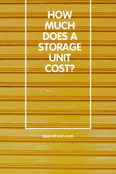 At SpareFoot, we analyzed thousands of reservations made on our network and released the average cost of a self-storage unit for 200 cities. Self Storage Units, Locker Storage, Temporary Storage, Fair Price, Own Home, Shed, Space, Business, Room