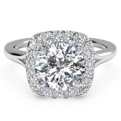 pave halo ritani engagement ring - Google Search