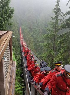 Capilano Suspension Bridge in British Columbia, Canada.