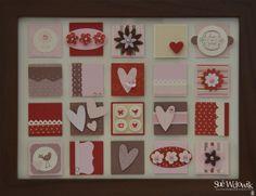 'Pretty in Pink Hearts' Framed Art handmade by Sue Wdowik - Independent Stampin' Up! Demonstrator. www.nighnighbirdie.blogspot.com
