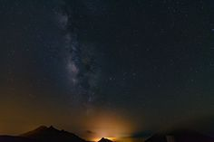 Milky Way by Ernst Gamauf on Milky Way, Northern Lights, Landscape, Nature, Travel, Viajes, Traveling, Aurora, Landscape Paintings