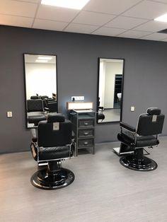 Barber Shop Interior, Barber Shop Decor, Salon Interior Design, Salon Design, Home Beauty Salon, Home Salon, Barbershop Design, Salon Furniture, Wood Design