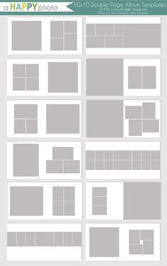 10x10 Al Simple Double Page Spread Templates By Ahyphoto