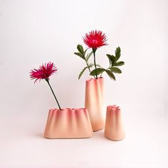 Jumony Tabletop Sculpture, Set of 3, Blush Pink by Extra&Ordinary Design #centerpieces #designvase | tabletop sculpture ideas | tabletop sculpture decor | tabletop wedding decor | modern vase series | colorful vases | handmade ceramic vase | Jesmonite vase | color grading home decor | color gradient vase | set of 3 vases | flower arrangements | ikebana | flower holder | flower vase ideas for home | contemporary vase | British design | designer Hyunhee Hwang | table decorations | design decor
