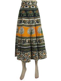 Wrap Skirts for Womens Bohemian Green Orange Boho Hippie Cotton Wrap Around Skirt Mogul Interior,http://www.amazon.com/dp/B00CBQQQW2/ref=cm_sw_r_pi_dp_Ce7JrbBBC66743BB