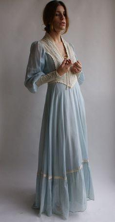 Gunne-sax-dress in a lovely pale blue