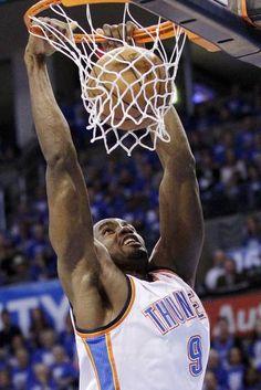 Oklahoma City Thunder power forward Serge Ibaka