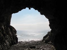 Sea cave beneath the Terranea Resort, Palos Verdes Peninsula. I took a picture from the inside of the cave just like this one. #terraneateaditions