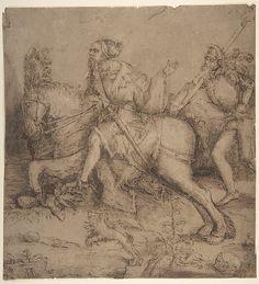 Knight on Horseback and Landsknecht