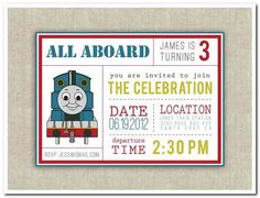 Free printable thomas the tank engine birthday invitation little thomas the train birthday party invitations printable filmwisefo