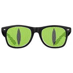Halloween Costume Cat Witch Eyes Glasses. (Green) Retro Sunglasses - Halloween happyhalloween festival party holiday