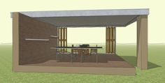Little pool house / outdoor shelter 01.