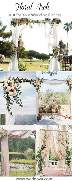 5 Unique and Personalized Wedding Arch Ideas 5 Unique and Personalized Wedding Arch Ideas MissPrintry MissPrintry Hochzeit The Greenery wedding decor, the beautiful aisel and arch for wedding 2019 arbor Wedding Arbors, Wedding Ceremony Backdrop, Wedding Stage, Arch For Wedding, Arch Ways For Weddings, Arbors For Weddings, Indoor Wedding, Green Wedding Decorations, Wedding Themes