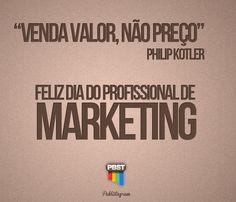 Arte do Publistagram em homenagem ao Dia do Profissional de Marketing (08 de maio).