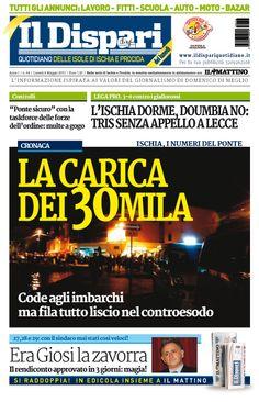 La copertina del 04 maggio 2015 #IlDispari #Ischia