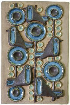 """Birds in a tree plaque, 12.5"""" x 8.25"""". Marked no 6354. (Current known as relief No. 6)"""