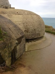 Normandy – Pointe du Hoc. Nazi bunker.