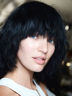 The 9 most beautiful backstage snaps from NYFW Spring 2015: An army of models marched around the runway at Marc Jacobs in Joey Ramone–style wigs and not a stitch of makeup