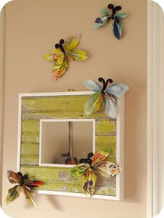 Magazine Butterflies via Homemade Serenity.