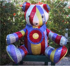 Horse Show Ribbons Teddy Bear
