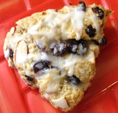 I made Breakfast Cherry Scones with Almonds this morning and my entire house smells like almonds! Store them in the fridge for quick on the run breakfasts.