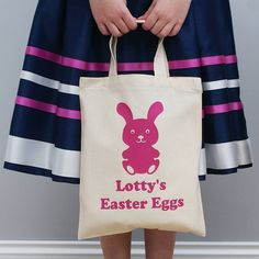 personalised childrens easter shopper bags by sparks clothing | notonthehighstreet.com