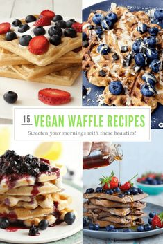 15 Of The Best Sweet Vegan Waffle Recipes You'll Find Anywhere!