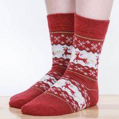Fashion Christmas Snowflake Deer Design Womens Wool Socks Warm Winter... ($2.99) ❤ liked on Polyvore featuring intimates, hosiery, socks, grey, leg warmers, women's clothing, tube socks, grey socks, wool leg warmers and leg warmer socks