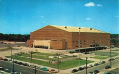 Veterans Memorial Auditorium, Downtown Des Moines. Not long after it was completed in 1950's