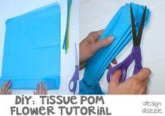 DIY: tutorial tissue pom flowers