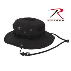 34f12d6a477 Rothco Tactical Boonie Hat now in Black Headgear