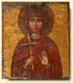 Female Martyr Saint - exhibited at the Temple Gallery, specialists in Russian icons