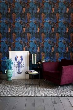 Mind the Gap Coral Reef Behang: Hier Verkrijgbaar WP20358 - Luxury By Nature Coral Reef Color, Coral Reefs, Cool Wallpaper, Pattern Wallpaper, Mind The Gap, Botanical Wallpaper, Red Bedding, Blog Deco, Blue Bedroom