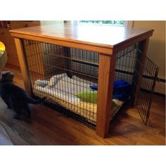 Wooden Table Dog Crate Cover | Malm Woodturnings …