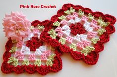 PINK ROSE CROCHET /: Granny Square
