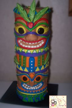 Tiki  Totem Pole Cake ~ heck yes!