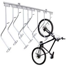 This would get our bike fleet off the floor so we can have them handy but still walk around.