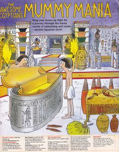 Horrible Histories Magazine # 3 : The Awesome Egyptians Mummy Mania Ancient Egypt Lessons, Ancient Egypt For Kids, Egyptian Crafts, Egyptian Art, Egypt Information, Egypt Games, Ancient World History, 6th Grade Social Studies, Horrible Histories