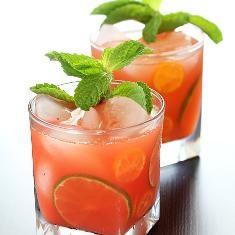 Strawberry And Kumquat Caipirinha (via www.foodily.com/r/9CJv2UVkE)