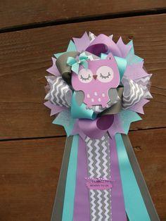 owl baby shower-purple baby shower mum por bonbow en Etsy