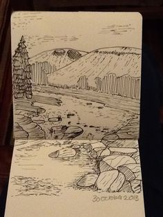 Day40 - learning to draw landscapes... #4