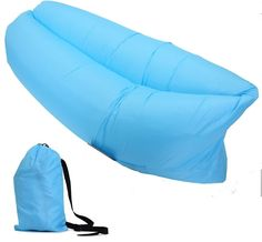 Air Sofa Bed Portable Camping Hammock Outdoor lounge Inflatable Lounge Turquoise #HWBubble