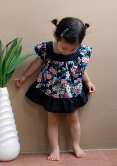 PDF Pattern Rene Dress for 12M 5T and tutorial. by yeppar