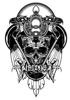 A skull / hawk mash up I did. © Hydro74