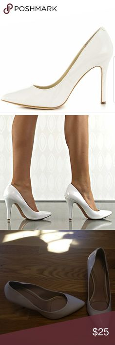 BCBG Generation White Heals Good condition...some stuff marks and wear on shoe point BCBGeneration Shoes